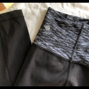 LULULEMON black high waist yoga pants. Size 10.
